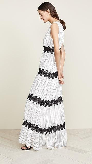 Glamorous White Black Pinspot Dress