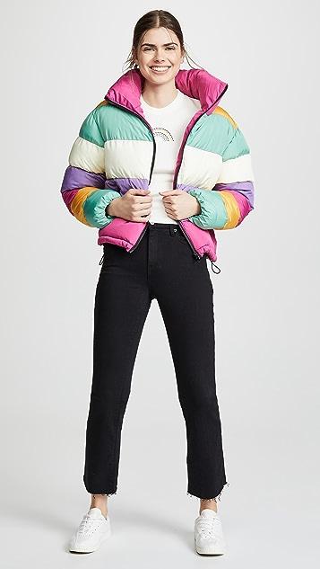Glamorous Rainbow Puffer Jacket