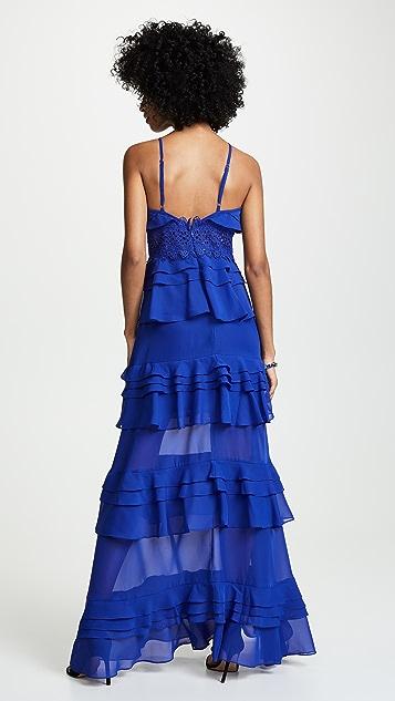 Glamorous Cobalt Ruffle Tiered Dress