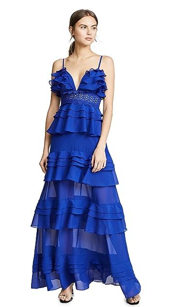 Glamorous Многоуровневое платье Cobalt с оборками