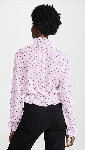 Glamorous Топ в лиловый и сиреневый горошек
