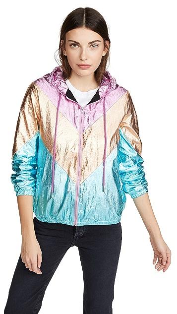 Glamorous Metallic Chevron Jacket