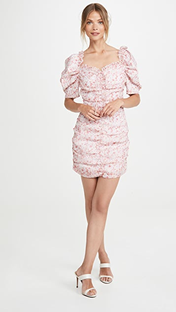 Glamorous Pink Ditsy Organza Mini Dress