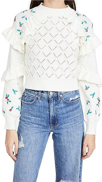 Glamorous Pointelle Sweater