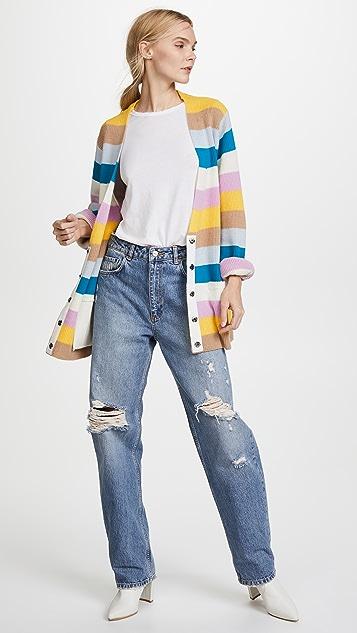 Victor Glemaud Rainbow Stripe Cardigan