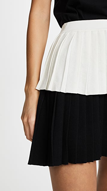Victor Glemaud Pleated Tier Skirt
