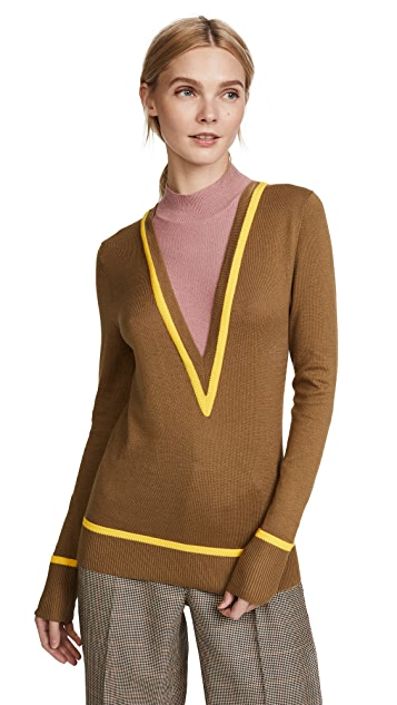 Victor Glemaud Intarsia Long Sleeve Sweater