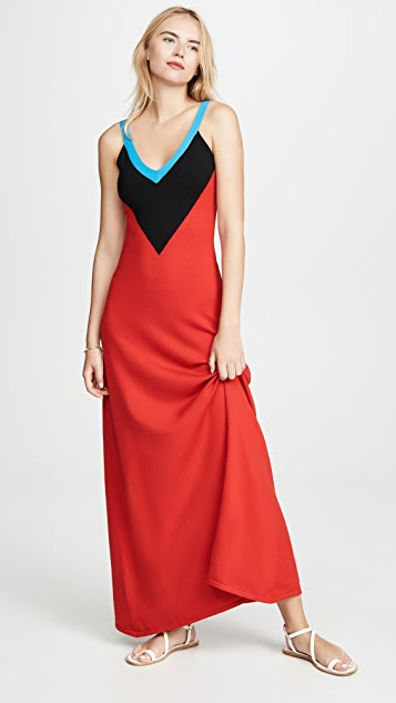 Victor Glemaud Deep V Neck Gown