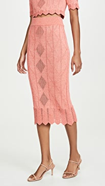 Pointelle Midi Skirt