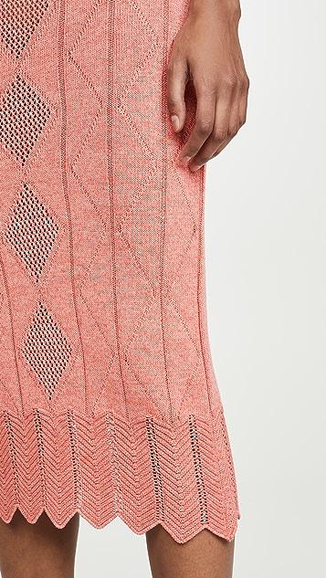 Victor Glemaud Pointelle Midi Skirt