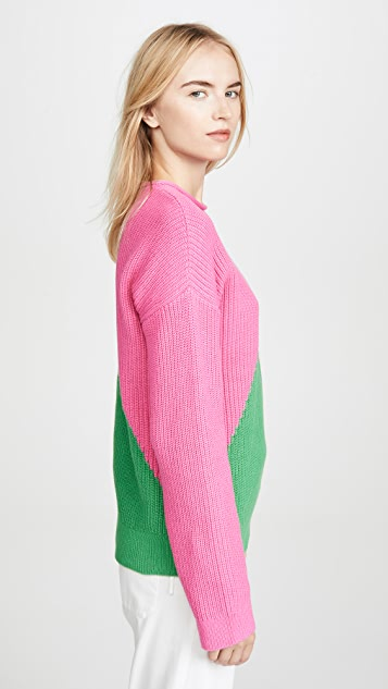 Victor Glemaud Long Sleeve Combo Sweater