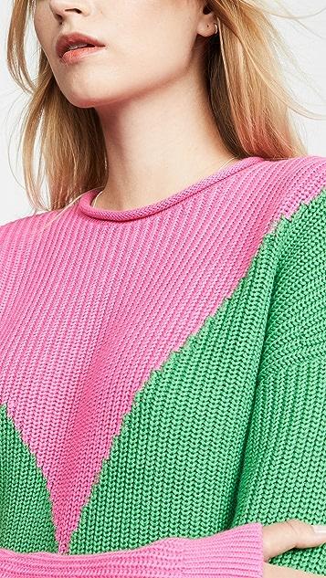 Victor Glemaud Long Sleeve Combo Sweater