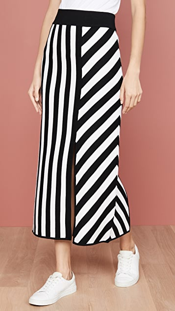 Victor Glemaud 条纹设计中长半身裙