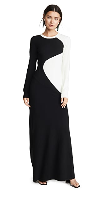 Victor Glemaud Long Sleeve Gown