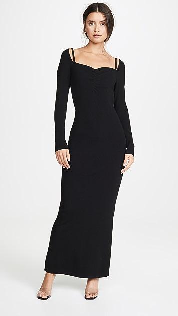 Victor Glemaud Long Sleeve Ribbed Dress