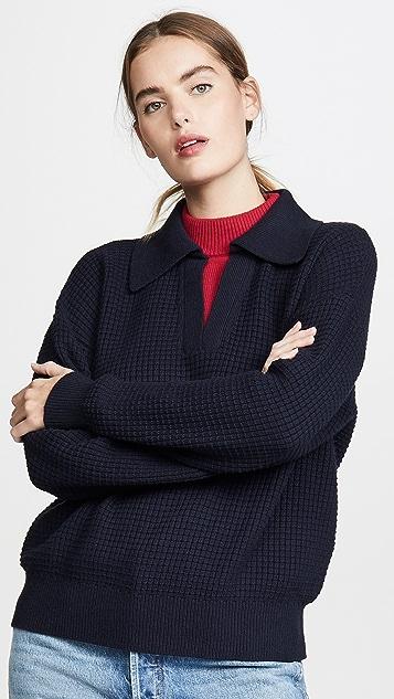 Victor Glemaud Long Sleeve Double Collar Sweater
