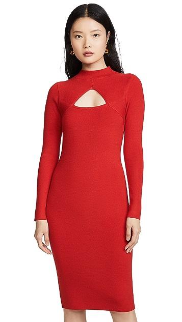 Victor Glemaud Wool Cutout Dress