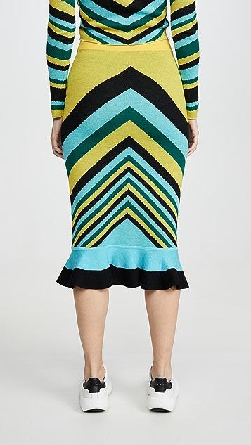 Victor Glemaud 几何半身裙