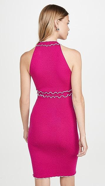 Victor Glemaud V Neck Sleeveless Dress