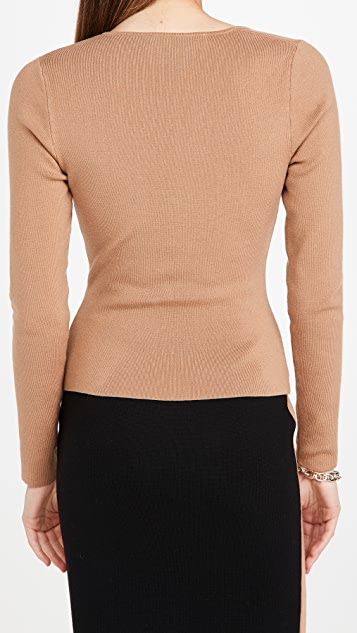 Victor Glemaud Cut Shoulder Sweater