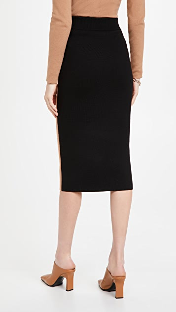 Victor Glemaud Colorblock Skirt