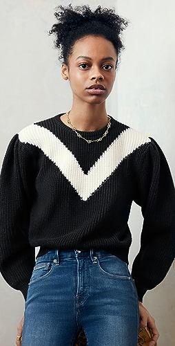 Victor Glemaud - Intarsia V Neck Crew Sweater