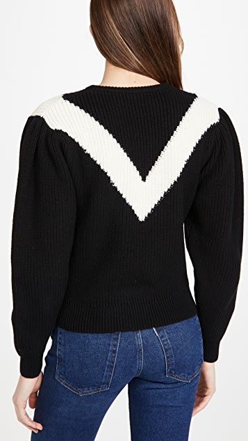 Victor Glemaud Intarsia V Neck Crew Sweater