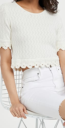 Victor Glemaud - Pointelle Knit Top
