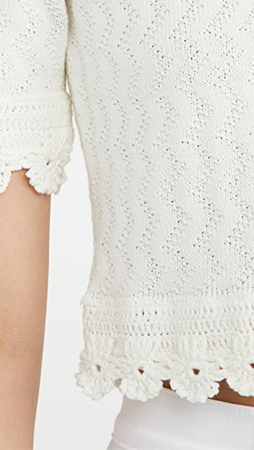 Victor Glemaud Pointelle Knit Top