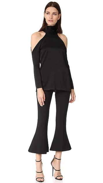 Galvan London Sash Neck Long Sleeve Tunic