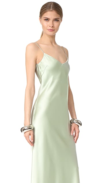 Galvan London V Neck Slip Dress