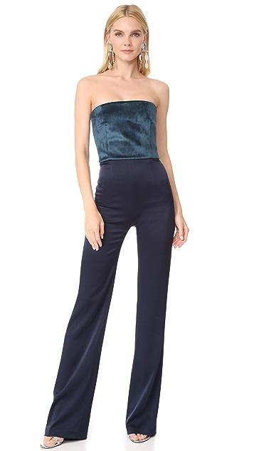 76c705b89b2 Galvan London Strapless Velvet Jumpsuit