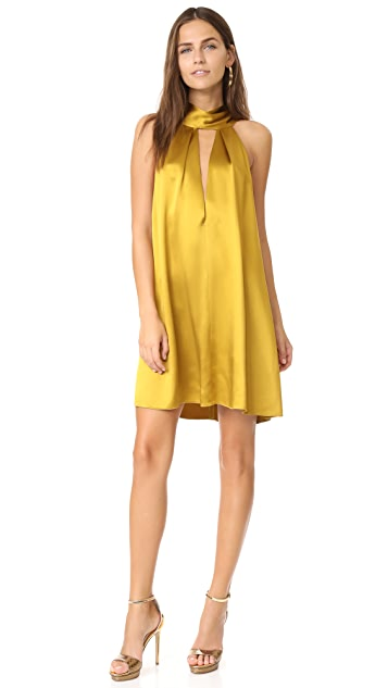 Galvan London Sash Neck Cocktail Dress