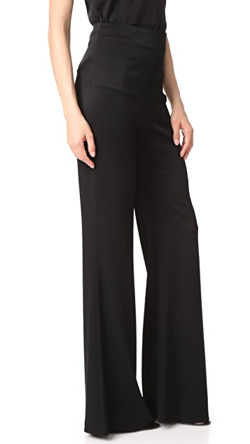 Galvan London High Waisted Satin Trousers