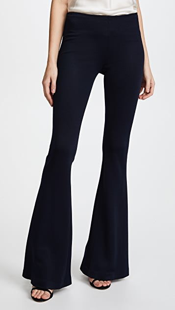 Galvan London Jersey Flared Trousers - Midnight