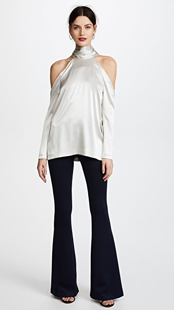Galvan London Jersey Flared Trousers