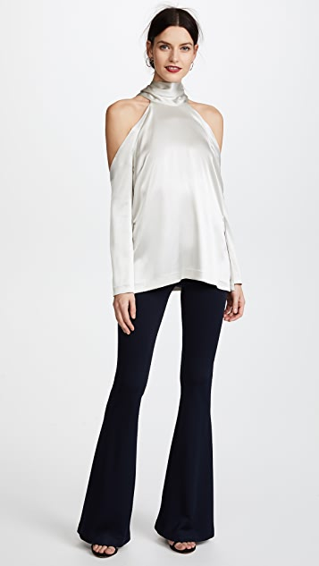 Galvan London Long Sleeve Tunic with Cold Shoulders