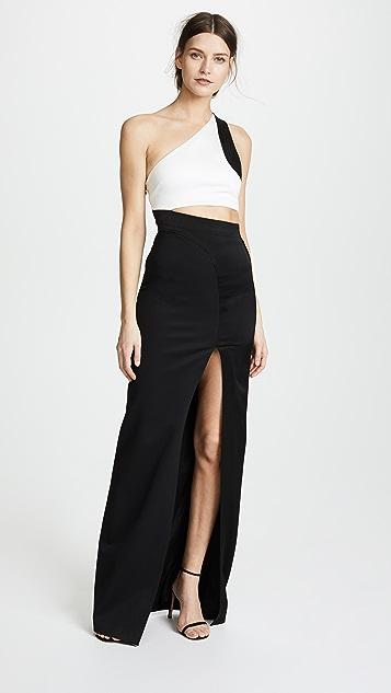 Galvan London Asymmetric Cut Away Dress