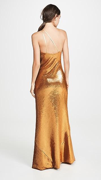 Galvan London Платье с блестками Gilded Roxy