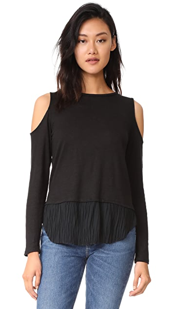 Generation Love Talulah Pleated Cold Shoulder Top