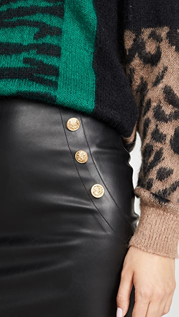 Generation Love Adi Faux Leather Skirt