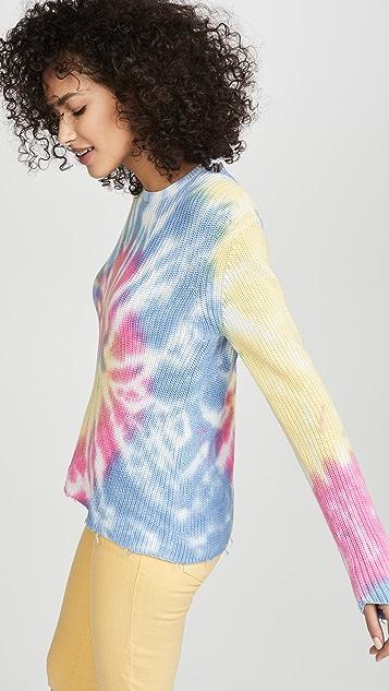 Generation Love Пуловер с рисунком в технике узелкового батика Eloise