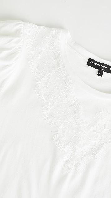 Generation Love Lyric 蕾丝 T 恤