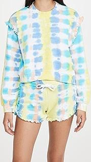 Generation Love Abella Tie Dye Ruffle Sweatshirt