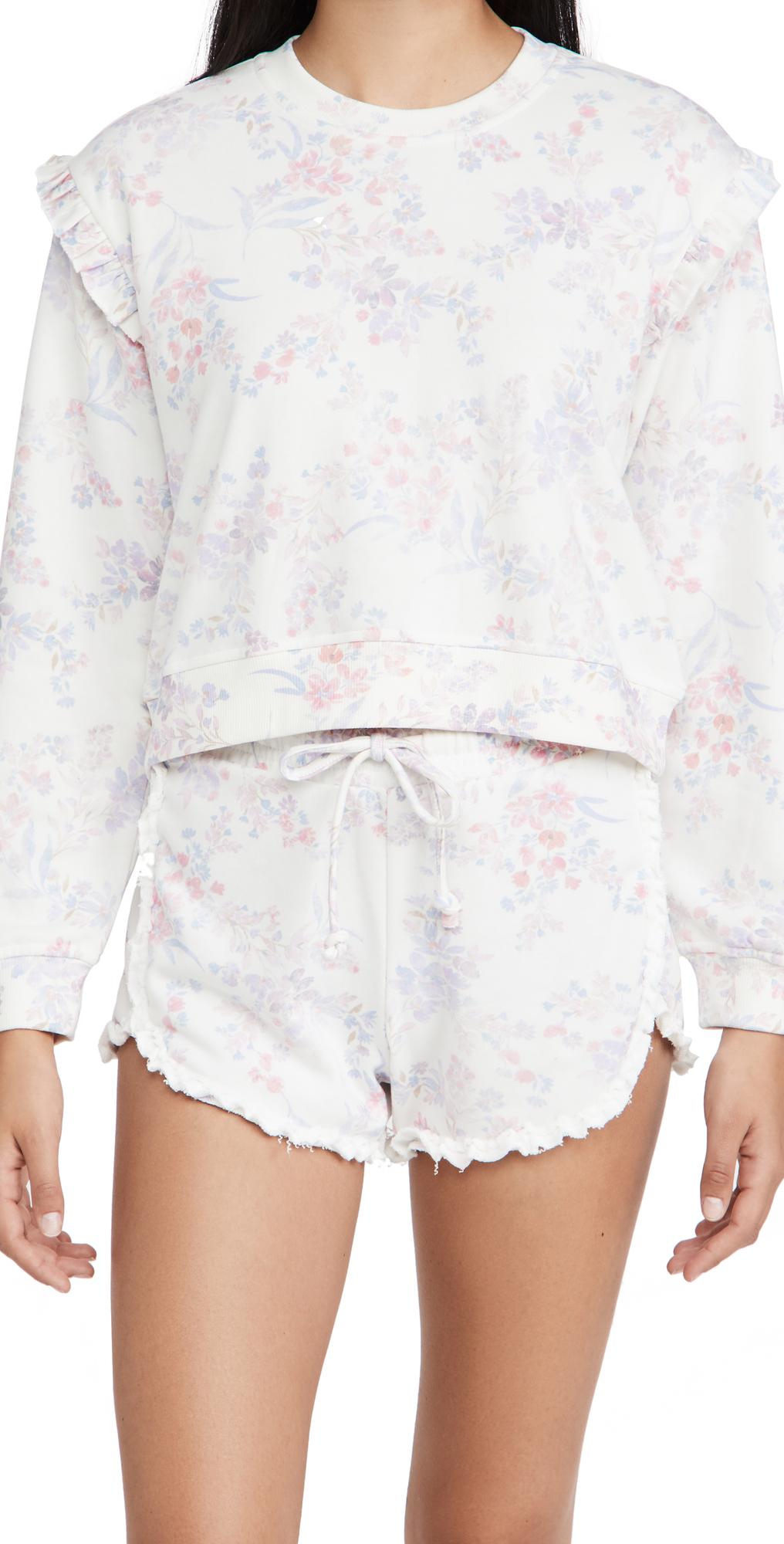Zoe Floral Ruffle Sweatshirt