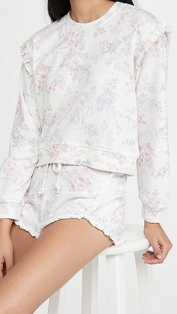 Generation Love Zoe Floral Ruffle Sweatshirt