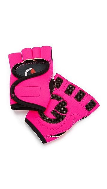 G-Loves Hot Pink with Black Workout Gloves