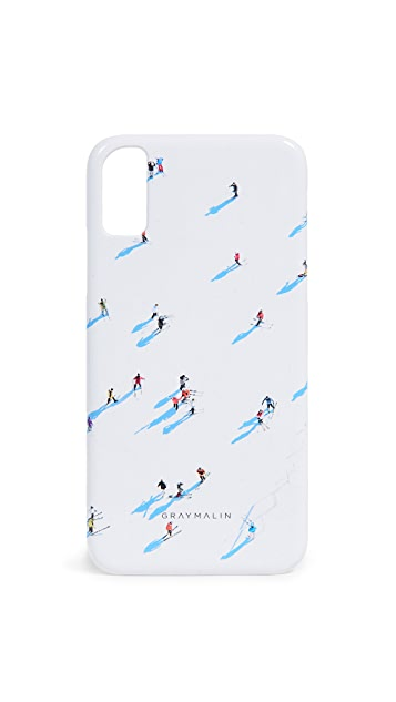 Gray Malin Чехол Deer Valley Skiers для iPhone
