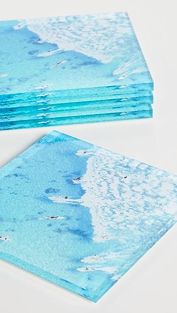 Gray Malin 海洋主题杯垫套装