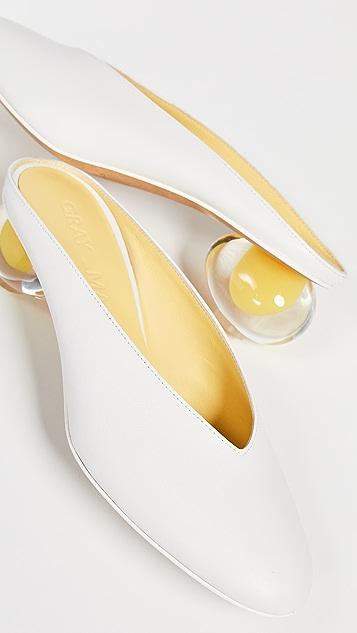 Gray Matters Туфли без задников в форме яйца